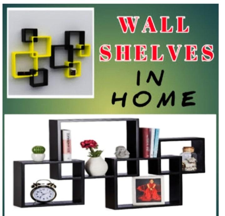 Wooden Wall shelves living room