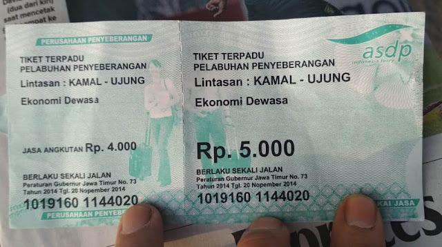 tarif tiket kapal dari kamal ke surabaya tanjung perak