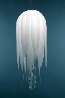 Lampara medusa de mar.