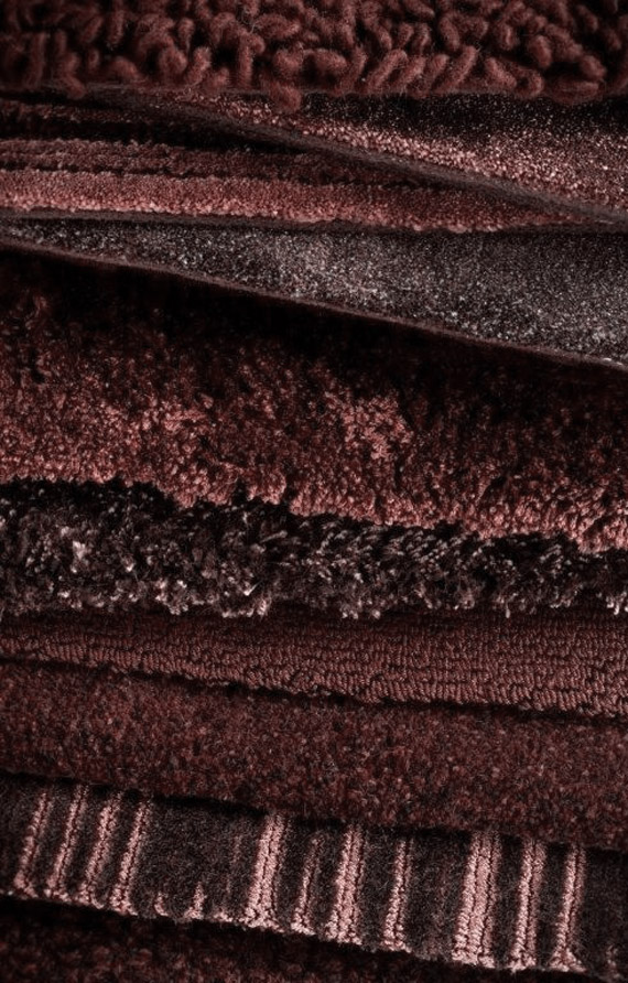 wool rugs in marsala, pantone color of the year