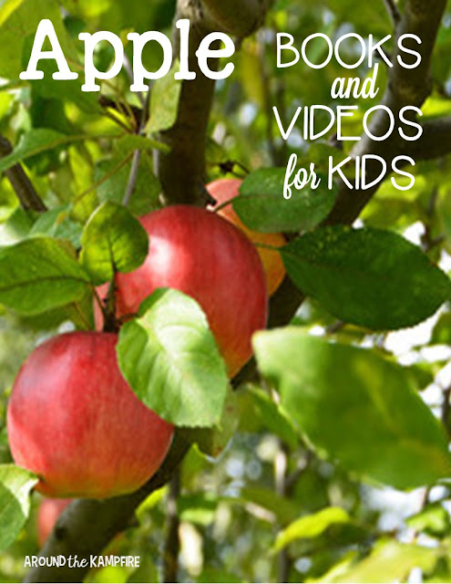 Apple books and videos to include with your apple activities~The apple life cycle time lapse video is the most beautiful I've seen!