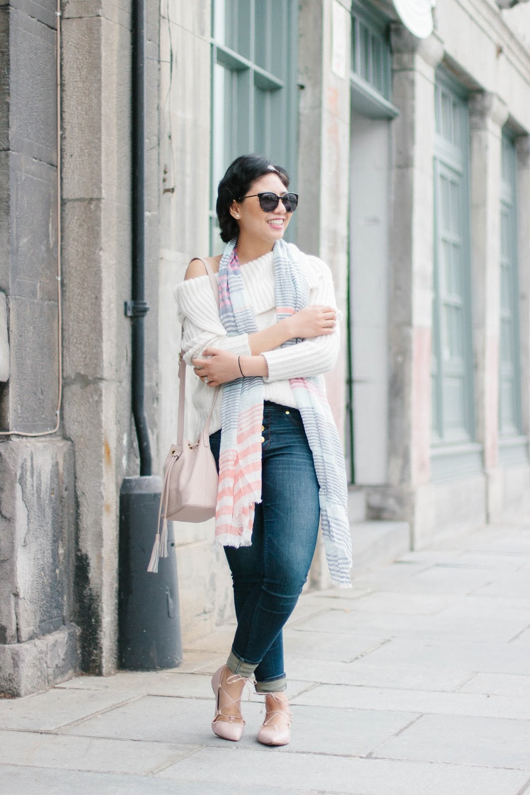 How to create a Spring look during a cold, chilly Spring Weather