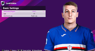 PES 2020 Faces Antonino La Gumina by Rachmad ABs