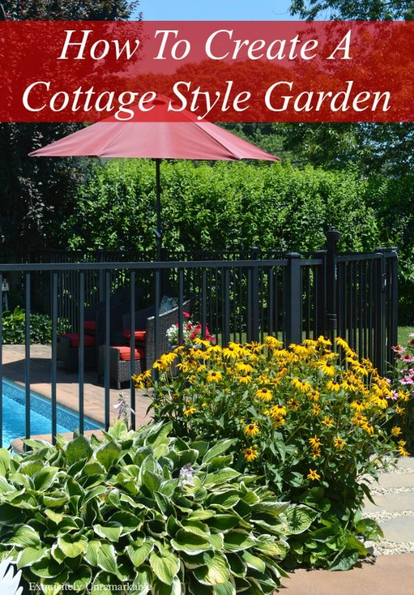 How to Create a cottage style garden text over garden