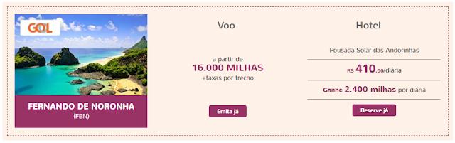 Promoção imperdivel de milhas Smiles para Fernando de Noronha, Brasil