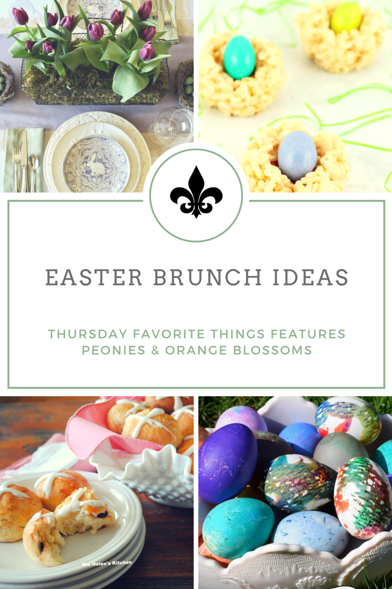 Peonies and orange blossoms easter brunch ideas tft Fun easter brunch ideas