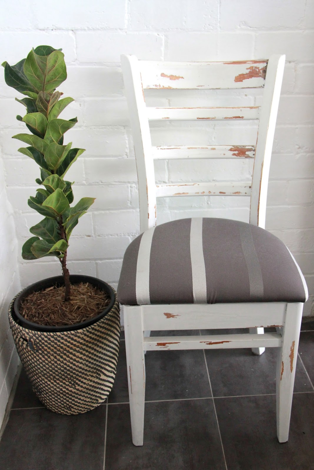 diy shabby chic rustic white dining chair basil and chaise. Black Bedroom Furniture Sets. Home Design Ideas