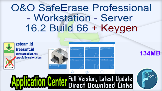 O&O SafeErase Professional – Workstation – Server 16.2 Build 66 + Keygen_ ZcTeam.id