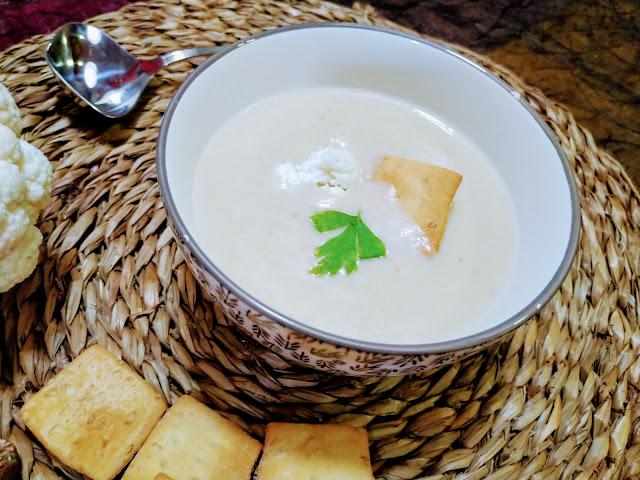 Crema de coliflor para dieta