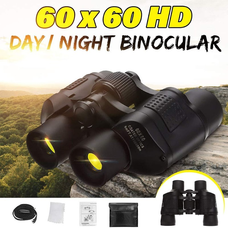 55% OFF Powerful Binoculars with Clear Vision - HD 60x60 Zoom Day/Night Vision Lightweight Binoculars Telescope with Case Set for Birds Watching Hunting Sports Travel Sightseeing