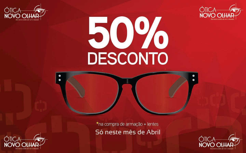 ee283fe62a240 Blog do Aeliton Clécio  Armações com 50% de desconto neste mês de ...