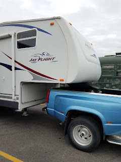Our 25 ft 5thwheel for camping and volunteering!