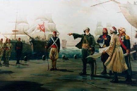 معركه نافارين الكبرى 1827(تدمير الاسطول المصرى  التركى  واستقلال اليونان)