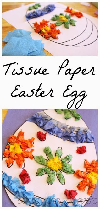 tissue paper egg craft