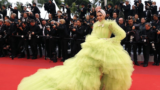 Deepika Padukone in Giambattista Valli at Cannes 2019