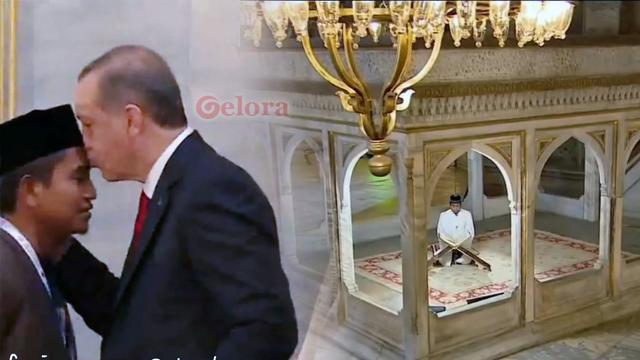 Bangga, Putra Aceh Diundang Erdogan Baca Alquran di Hagia Sophia
