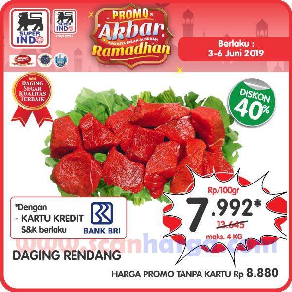 Promo Daging Rendang Di Superindo 3 - 6 Juni 2019