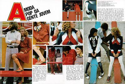 Moda anos 70. História década 70.  anos 70. Artigo Moda PoP - 1973