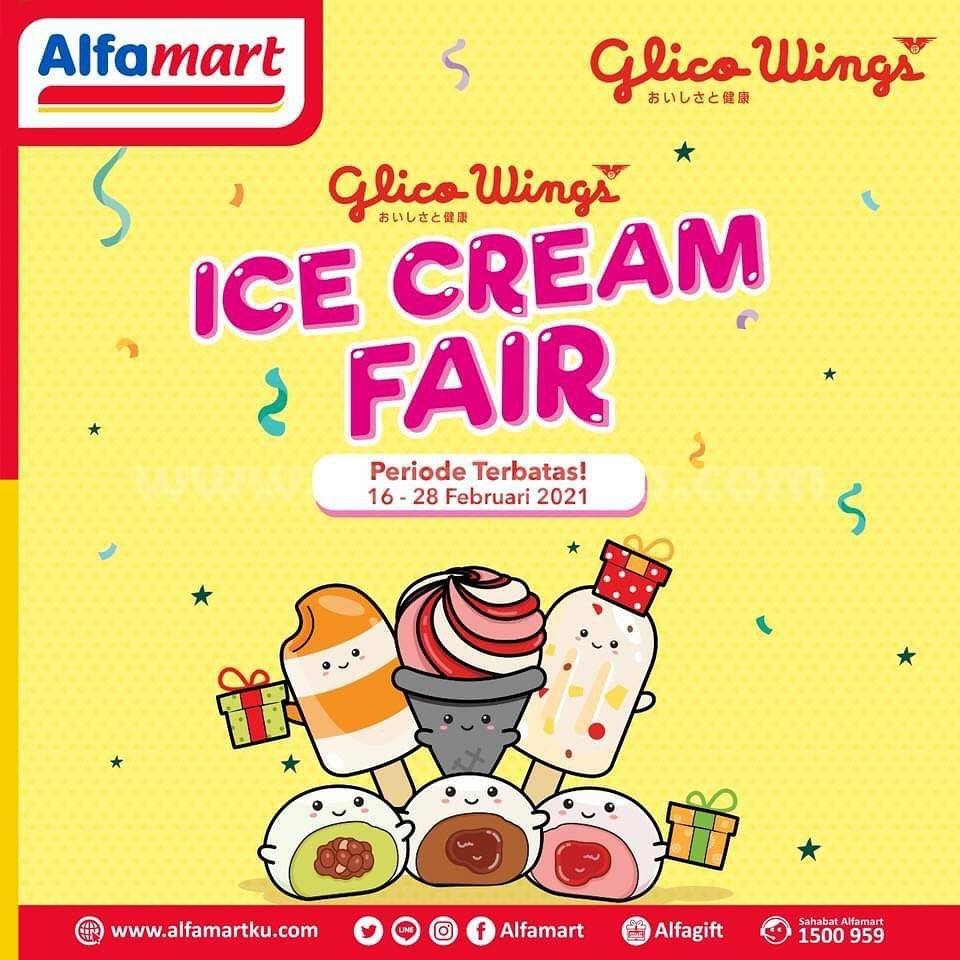ALFAMART GLICO WING FAIR! Promo GRATIS ICE CREAM