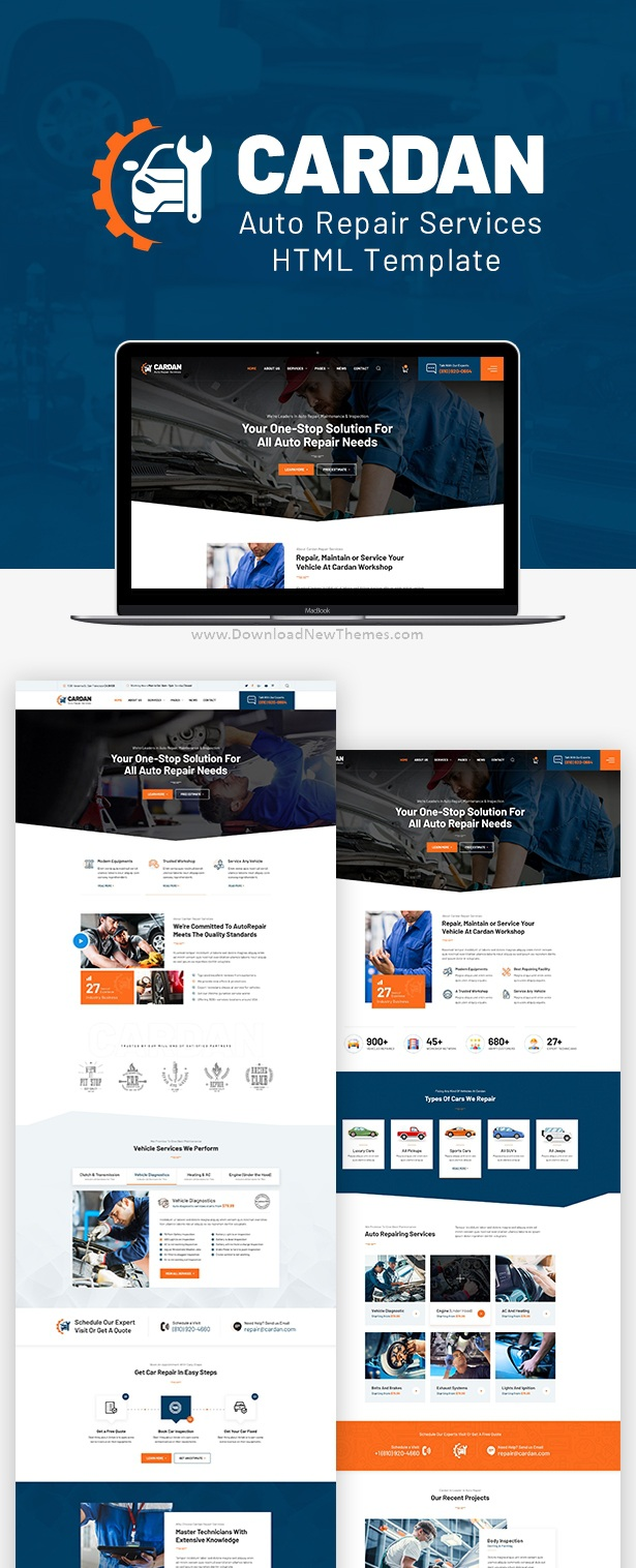 Car Repair Services Bootstrap Template