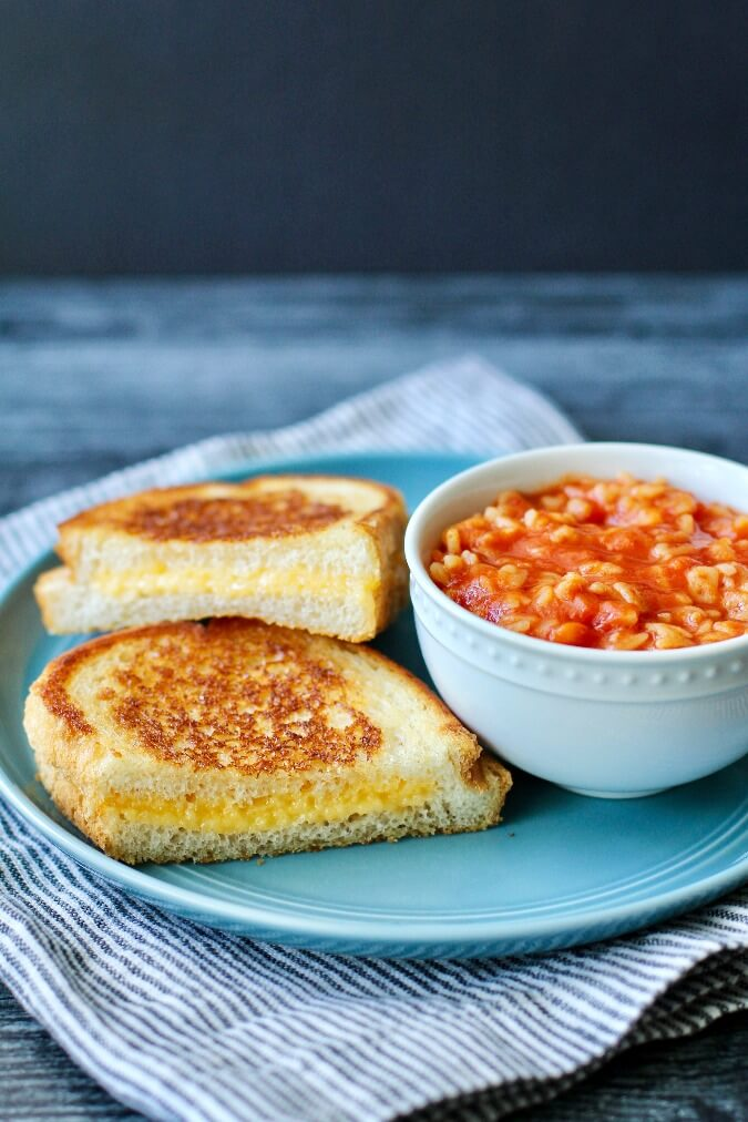 Alphabet Soup (Sopa de Letras) with grilled chees
