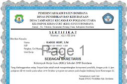 [Aplikasi] Cetak Sertifikat MGMP & KKG