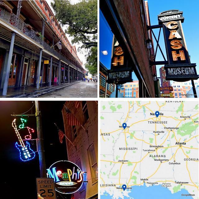Roteiro musical por Nova Orleans, Nashville e Memphis