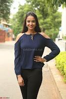 Poojita Super Cute Smile in Blue Top black Trousers at Darsakudu press meet ~ Celebrities Galleries 034.JPG