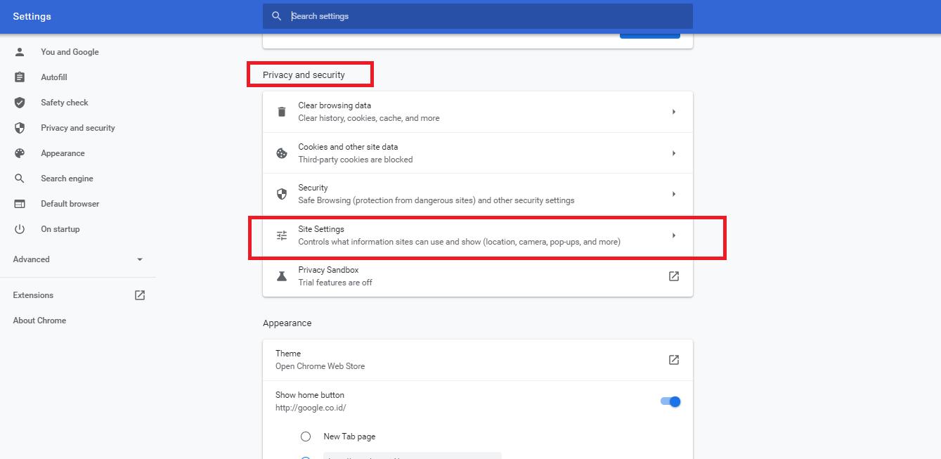 cara mematikan iklan notifikasi di google chrome