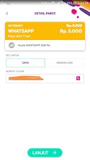 Paket Whatsapp Axis Murah 2 GB Cuma 5 Ribu Rupiah