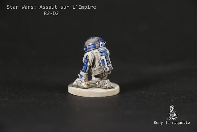 Figurine R2-D2 du jeu Star Wars: Assaut sur l'Empire.