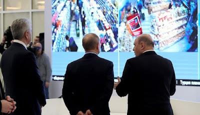 Pemantauan pusat belanja oleh Vladimir Putin