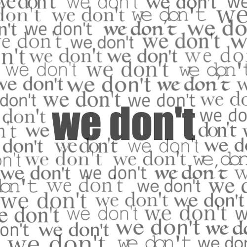 Nieah – We Don't – Single