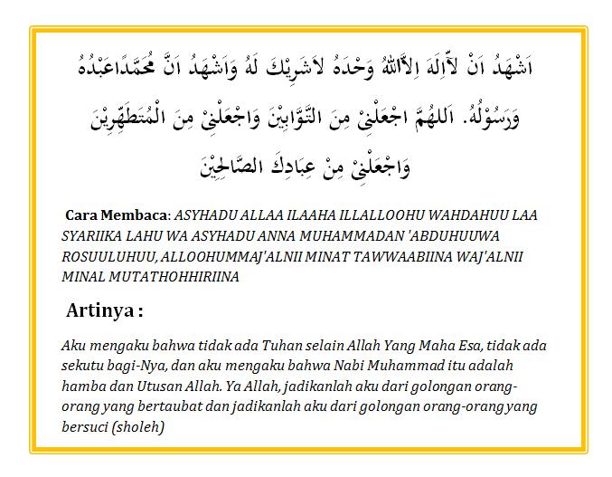 Bacaan Doa Sesudah Wudhu Lengkap Arab Latin dan Artinya
