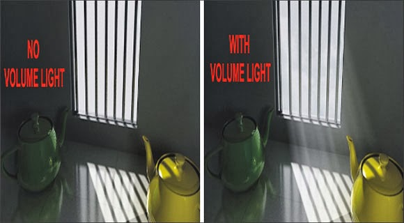 rendering scene with volume light