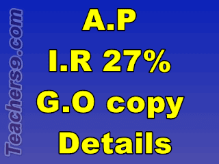 A.P I.R 27% G.O Ms 60 copy - full details