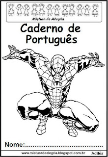 Capa caderno Português Homem Aranha