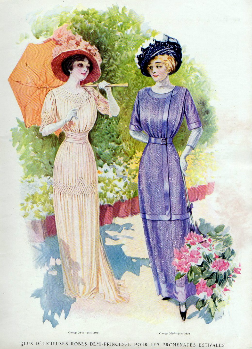 All the pretty dresses very late edwardian summer dress for Miroir des modes