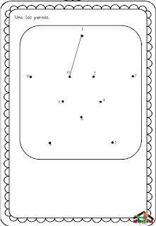 actividades de unir puntos para aprender los numeros