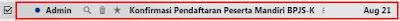 Email notifikasi pendaftaran BPJS