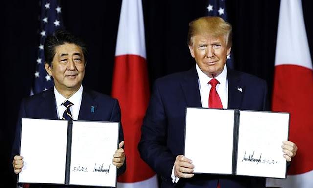 Estados Unidos y Japón firman acuerdo comercial