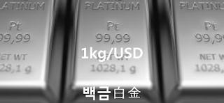 오늘 백금 1 키로(kg) 시세 : 99.99 플라티늄 백금 1 Kg (kilogram 키로그람) 시세 실시간 그래프 (1kg/USD 달러)