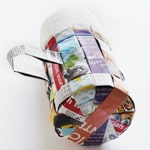 Easy-Weave Newsprint Basket - Step 4