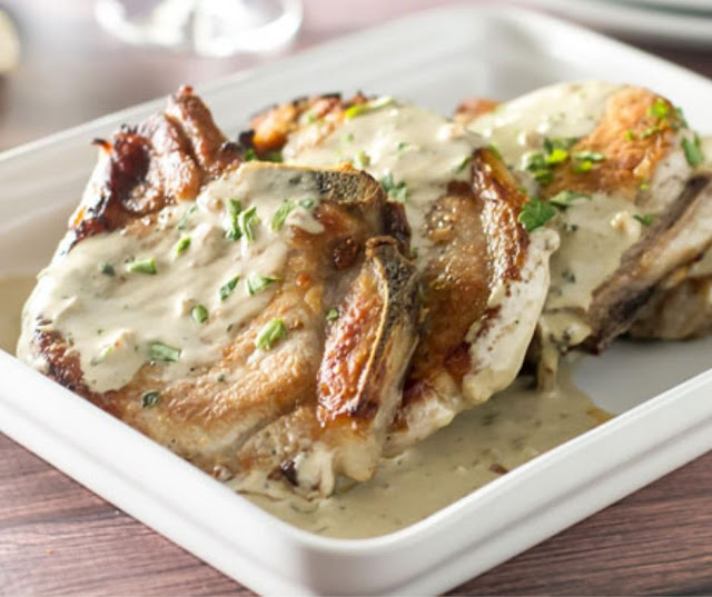 Oven Roasted Pork Chops With Mustard Sauce