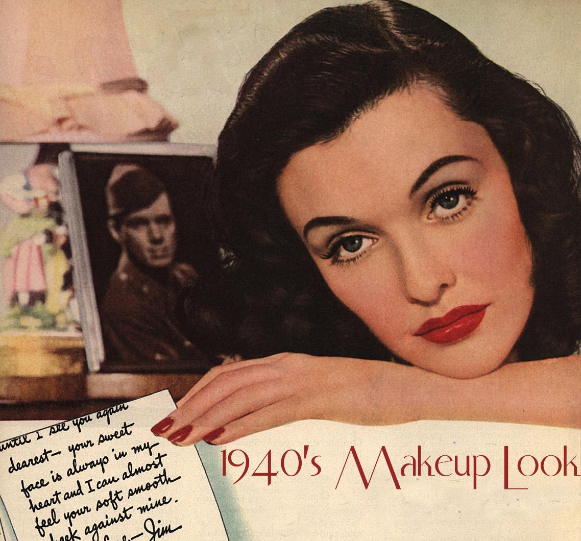 1940s Makeup Look  The Red Lipstick