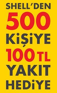 500 Kişiye 100TL Yakıt Hediye