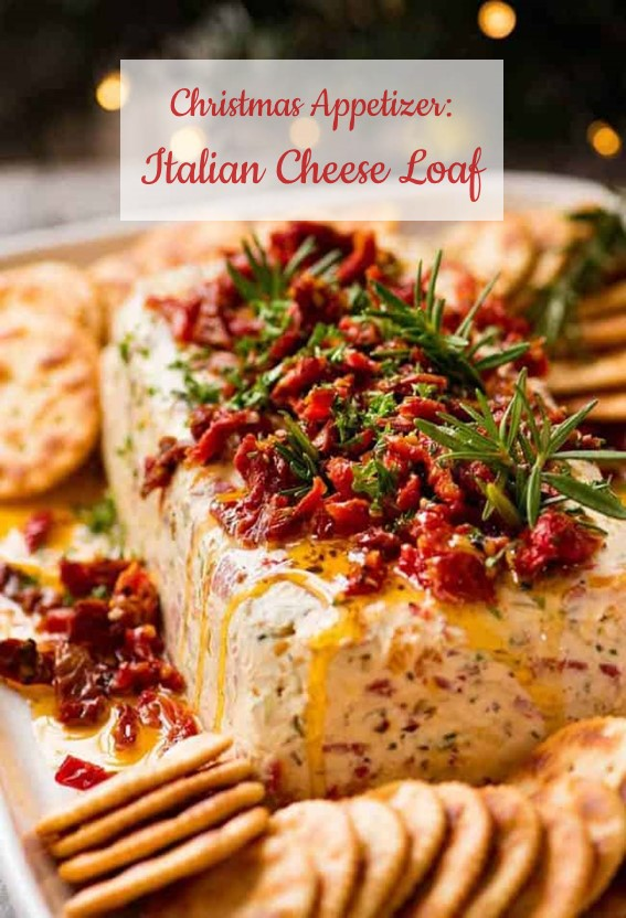 Christmas Appetizer: Italian Cheese Loaf #Cheese #Appetizer #Italian  #Christmas