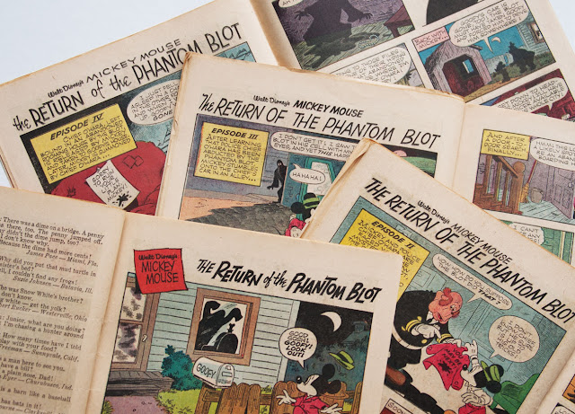 """The Return of the Phantom Blot"" was originally printed in 4 parts in Walt Disney's Comics and Stories #284-287"