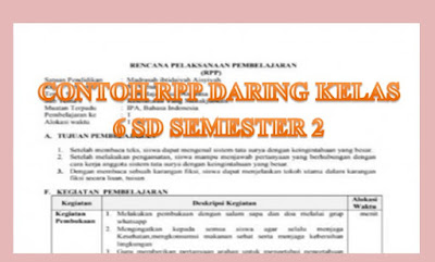 RPP DARING KELAS 6