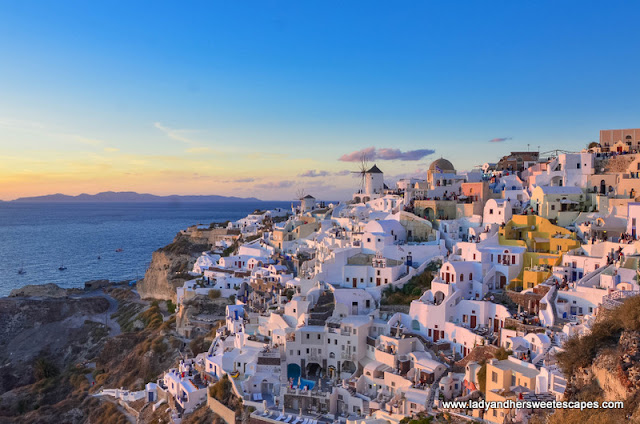 Oia during the golden hour.